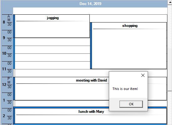 Custom Appointments in MindFusion Scheduling Control