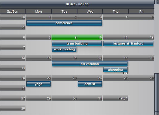 Unlimited Scrolling in MindFusion WinForms Scheduling