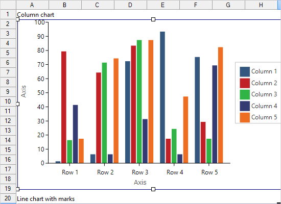 Charts in MindFusion WinForms Spreadsheet
