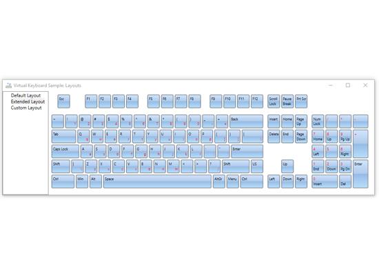 WPF Virtual Keyboard: Keyboard Layouts