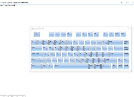 WPF Popup Virtual Keyboard