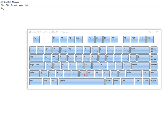 WPF Standalone Virtual Keyboard