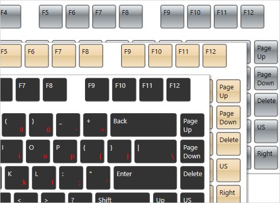 MindFusion WPF Keyboard: Styles