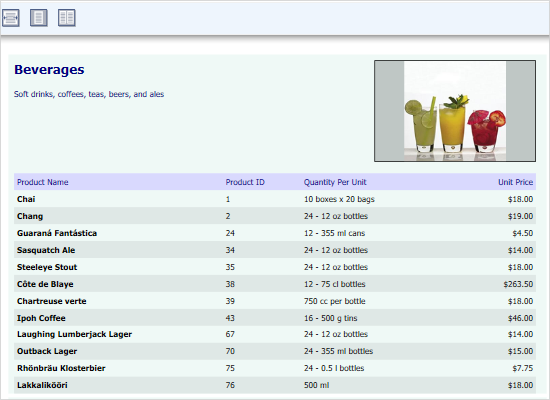 Database Report in WPF