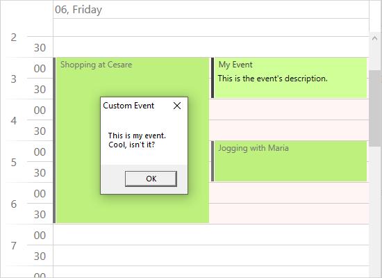 Custom Events in a WPF Calendar