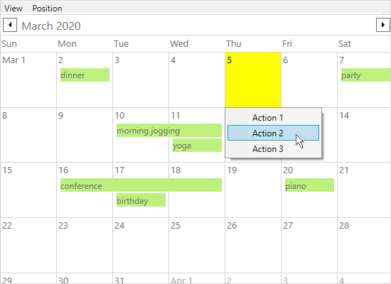Highlighting o Items in a WPF Schedule