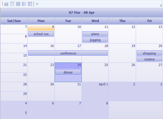 Minimal Scheduling Application in WPF