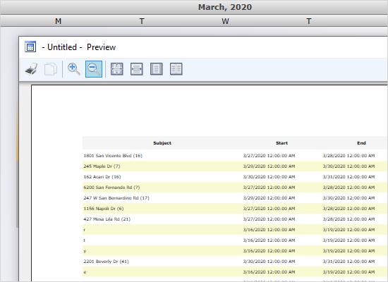 Schedule Reports in WPF Calendar Component