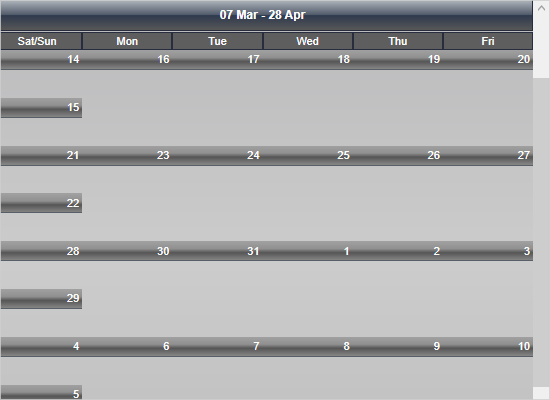 Unlimited Calendar Scroll with MindFusion WPF Scheduler Library