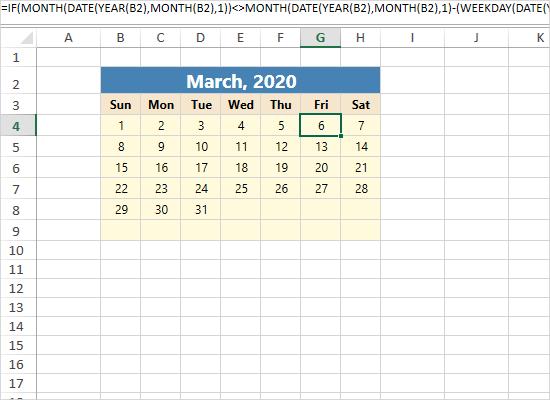 WPF Spreadsheet Control: Calendar
