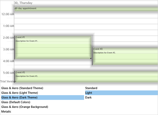 Glass and Aero Effects in the Xamarin Scheduler