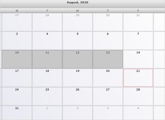 Recurrent Events in Xamarin Scheduler