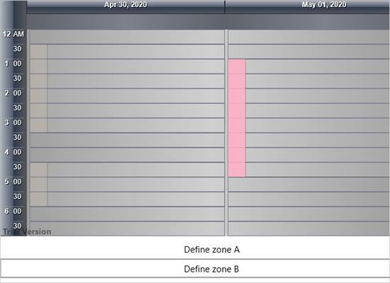 Zones in Xamarin Calendar